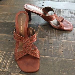 Antonio Melani Brown Heel Sandals 7 1/2